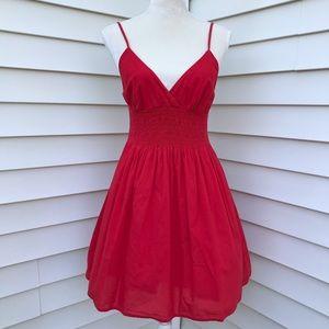 Xhilaration Smocked Red Cami Dress